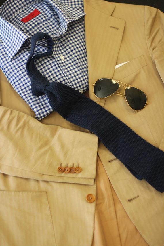 terno_amarelo_creme_gravata_azul_vichy_complementares