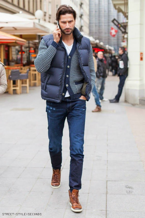 Fashion review latest men's gilets & bodywarmers. The body-warmer or gilet are now a staple piece of daily fashion for guys who like to look smart but also want to be free of the constraints of a jacket or coat.