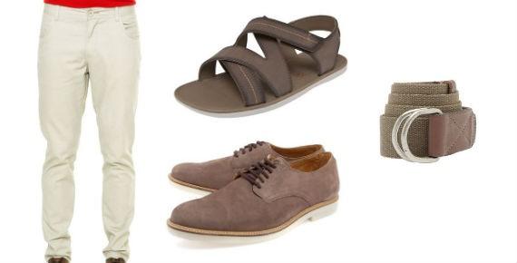 combo-camisa-linho-sandalia-sapato-cinto