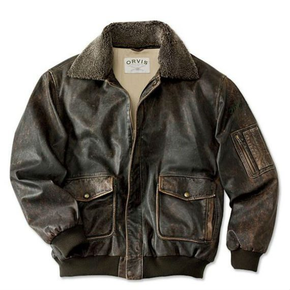 Tipos de jaqueta de couro - Bomber Jacket