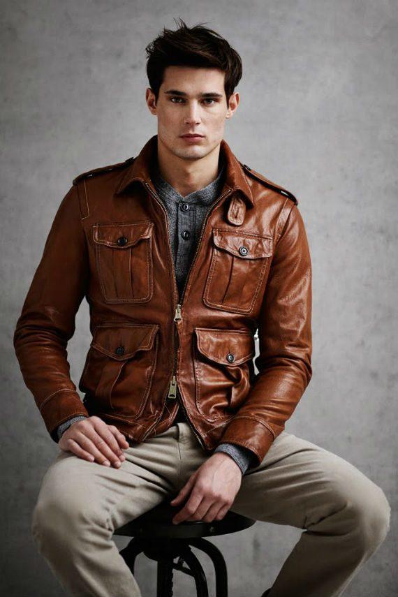 Tipos de jaqueta de couro - Jaqueta Militar