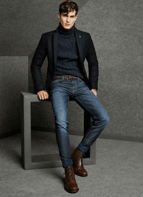 O Look Certo: Tricô Gola Rolê com Blazer de Lã