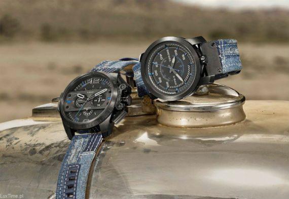 Coleção de Relógios Diesel tem Mix de Jeans nas Pulseiras