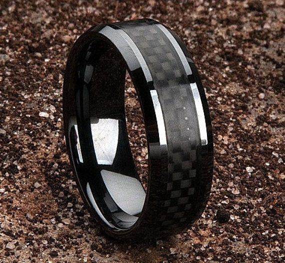 Anéis Masculinos Para Comprar Pela Internet - Anel Fibra de Carbono