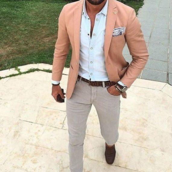 O Look Certo: Blazer Salmão e Camisa Delavê