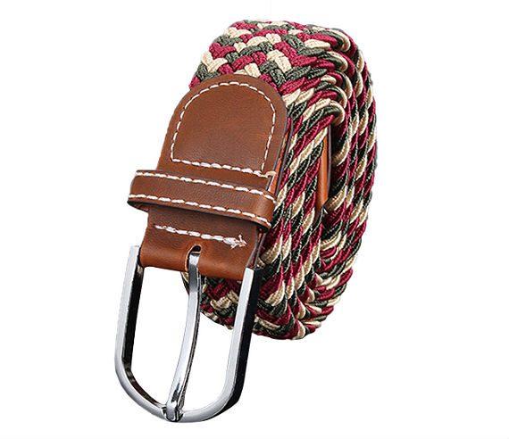 7 Dicas de Cintos Masculinos Para Comprar Pela Internet - Colorido trançado couro cordão