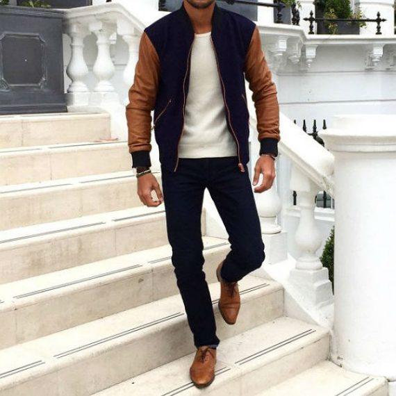 O Look Certo: Varsity Jacket em Combinação Consistente