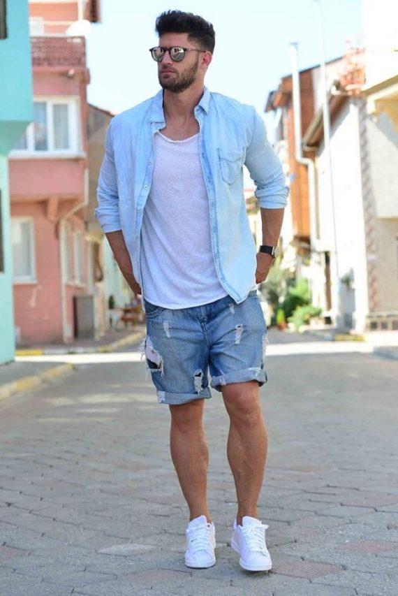 Tendências da Moda Masculina Para Evitar - Bermuda Jeans Destroyed