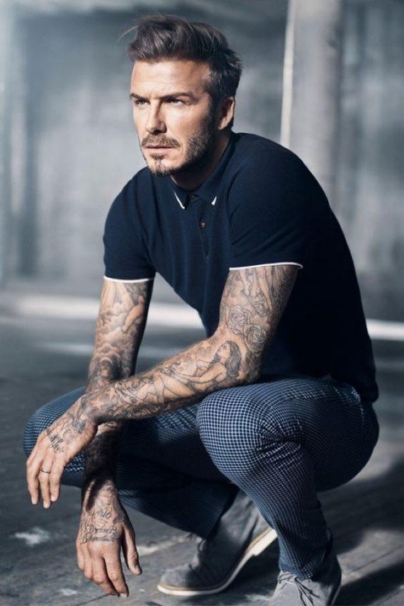 O Look Certo: Beckham de Calça Xadrez e Polo