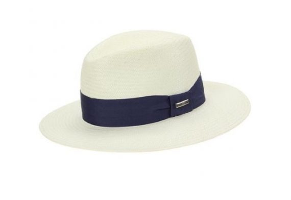 Chapeu Marcatto off-white com banda azul