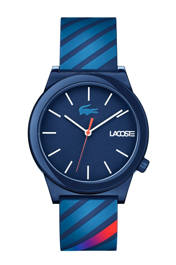 Lacoste Lança Relógios da Motion Collection - Stripes Azul