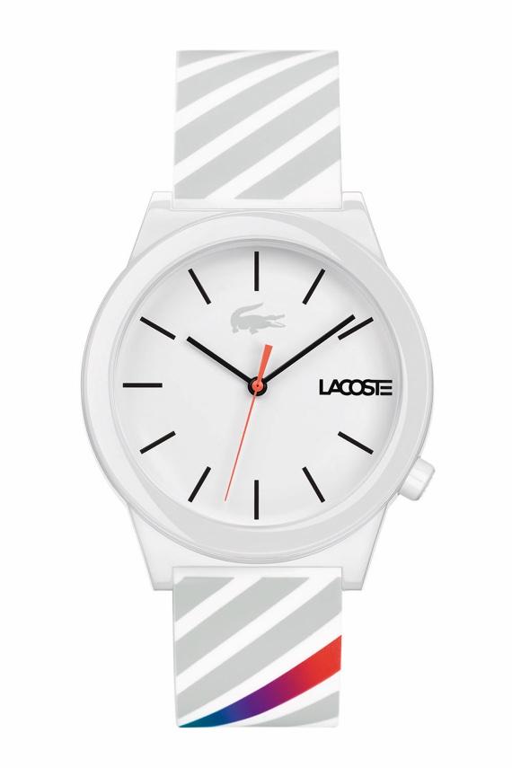 Lacoste Lança Relógios da Motion Collection - Stripes Branco